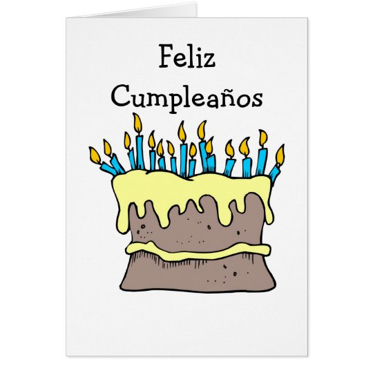 Spanish Birthday Card - Birthday Cake