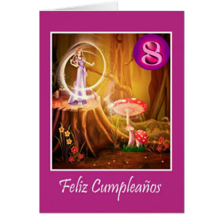 Spanish birthday for 8 year old girl with fairy card