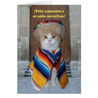 Spanish Birthday for Dad Greeting Card
