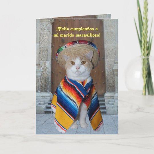 Spanish Birthday For Husband Or Boyfriend Card Zazzle
