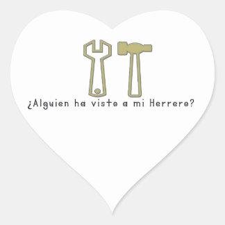 Spanish-Blacksmith Heart Sticker