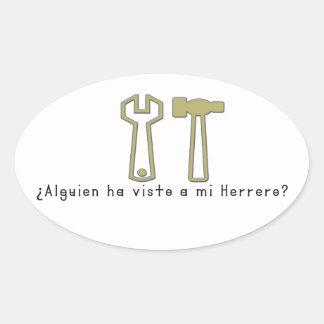 Spanish-Blacksmith Oval Sticker