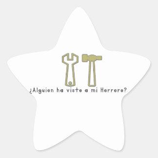 Spanish-Blacksmith Star Sticker