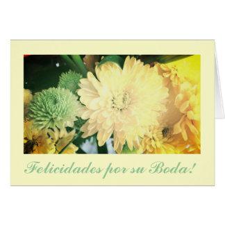 Spanish: Boda/ wedding : Felicidades Card