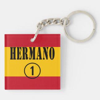 Spanish Brothers : Hermano Numero Uno Double-Sided Square Acrylic Keychain