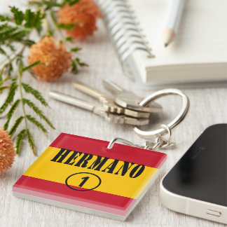 Spanish Brothers : Hermano Numero Uno Single-Sided Square Acrylic Keychain