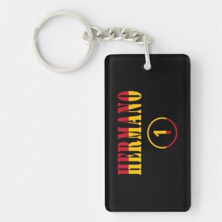 Spanish Brothers : Hermano Numero Uno Single-Sided Rectangular Acrylic Keychain