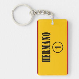 Spanish Brothers : Hermano Numero Uno Double-Sided Rectangular Acrylic Keychain