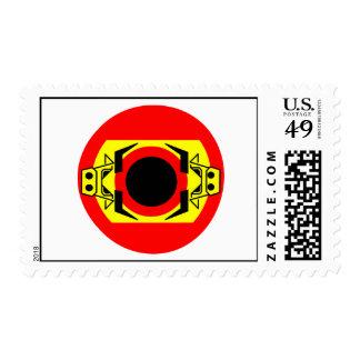 Spanish Bull by Asbjorn Lonvig Postage Stamp
