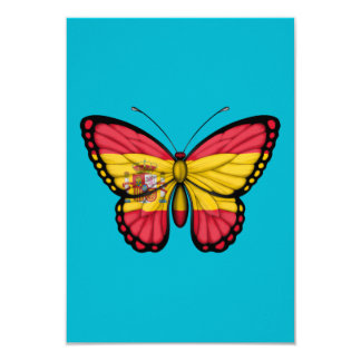 Spanish Butterfly Flag Personalized Announcement