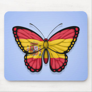 Spanish Butterfly Flag on Blue Mouse Pad