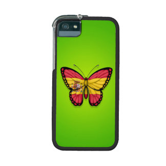 Spanish Butterfly Flag on Green iPhone 5/5S Case