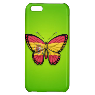 Spanish Butterfly Flag on Green iPhone 5C Case