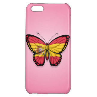 Spanish Butterfly Flag on Pink iPhone 5C Cases