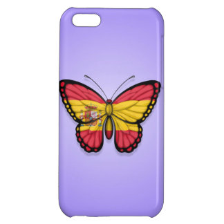 Spanish Butterfly Flag on Purple iPhone 5C Cases