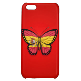 Spanish Butterfly Flag on Red iPhone 5C Covers
