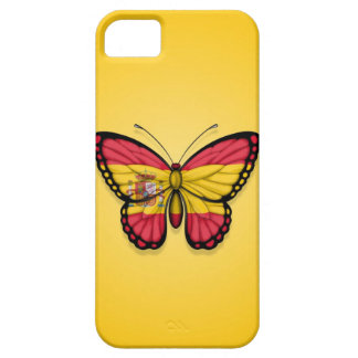 Spanish Butterfly Flag on Yellow iPhone 5/5S Cover
