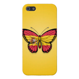 Spanish Butterfly Flag on Yellow Covers For iPhone 5