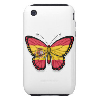 Spanish Butterfly Flag Tough iPhone 3 Case