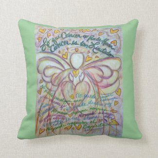 Spanish Cancer Angel Decorative Throw Pillow