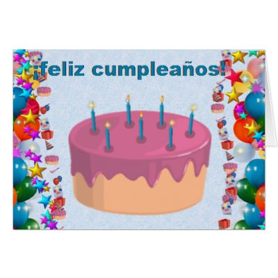 spanish happy birthday/ feliz cumpleanos card  zazzle, Birthday card