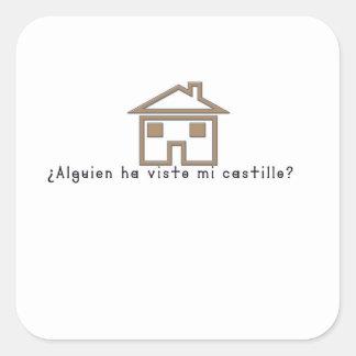 Spanish-Castle Square Sticker