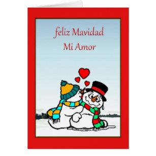 Snowman spanish christmas cards greeting photo cards zazzle spanish christmas card m4hsunfo