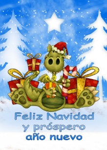Spanish christmas cards zazzle spanish christmas card cute dragon feliz navid m4hsunfo