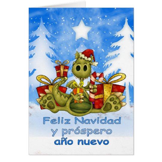 Spanish christmas card cute dragon feliz navid zazzle spanish christmas card cute dragon feliz navid m4hsunfo