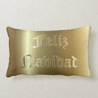 Spanish Christmas Golden Lumbar Pillow