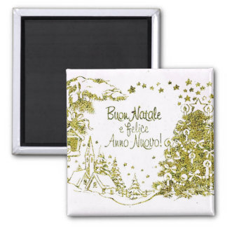 Spanish Christmas greetings 2 Inch Square Magnet