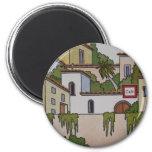 Spanish Church And Houses Fridge Magnets