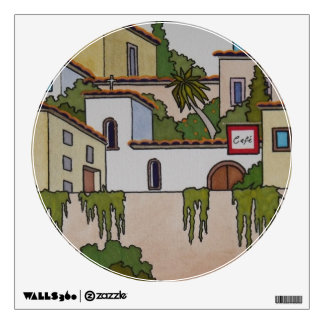 Spanish Church And Houses Wall Decal