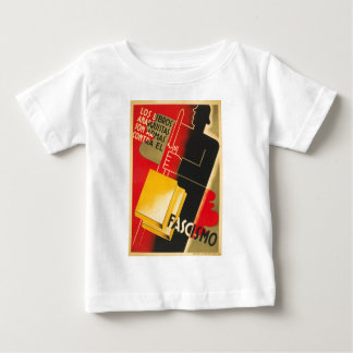 Spanish Civil War Anarchist / Facism Rare Poster Baby T-Shirt