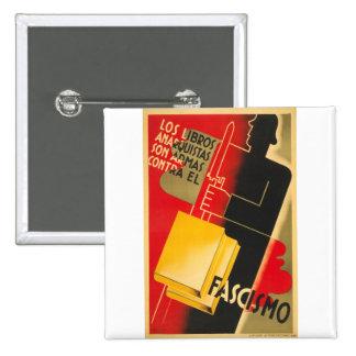 Spanish Civil War Anarchist / Facism Rare Poster Pins