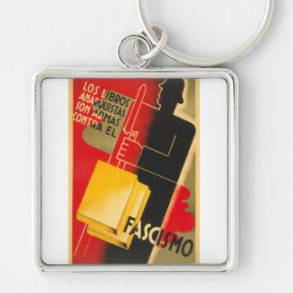 Spanish Civil War Anarchist / Facism Rare Poster Keychain