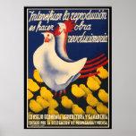 Spanish Civil War Chicken Propoganda Poster