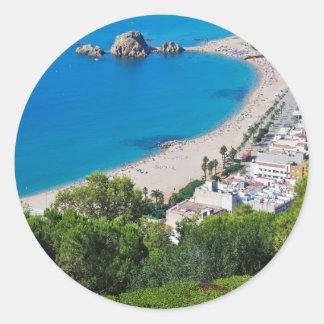 Spanish Coast Classic Round Sticker