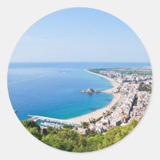 Spanish Coastline Classic Round Sticker