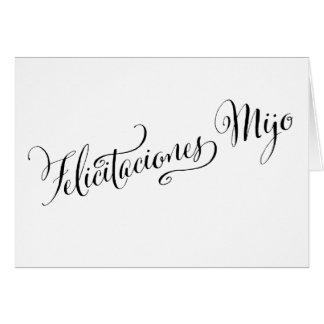 Spanish Congratulations Son | Felicitaciones Mijo Card