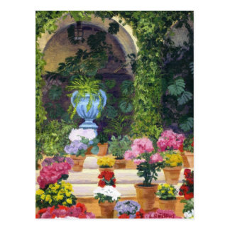 Spanish Courtyard Postcard