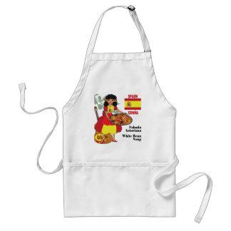 Spanish Cuisine Aprons-Fabada/White Bean Soup Adult Apron