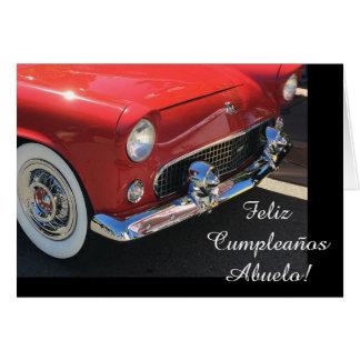 Spanish: Cumpleanos Abuelo/ grandpa's birthday Card