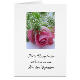 Spanish:Cumpleanos /Birthday Greeting Card