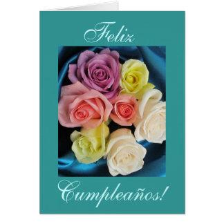 Spanish: Cumpleanos Birthday -teal Card