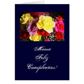 Spanish: Cumpleanos de la Mamá /Mom's b-day/ Greeting Card