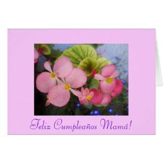 Spanish: Cumpleanos de mami - Mom's Birthday Card