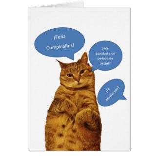 Spanish: Cumpleanos gatito Card