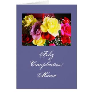 Spanish:Cumpleanos/Mamá/ Mom's birthday bl Card