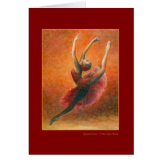 Spanish Dance Greeting Card (customizable)